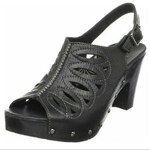 Dansko Rowena Leather Heel Sandal 39